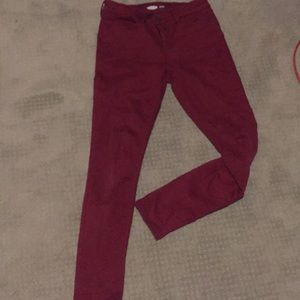 Old Navy Maroon Stretchy Skinny Jeans